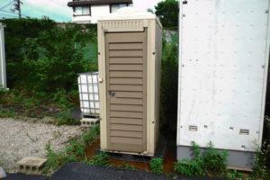 水洗式仮設トイレ 和式